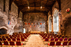 Interior of the Great Hall of Caerphilly Castle Royalty Free Stock Photography