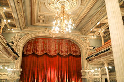 The interior of the great hall. Of the Kislovodsk Symphony Theatre Stock Photography