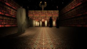 The Interior of the Great Library of Alexandria in the Lecture Hall stock video footage