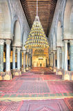 Interior of the Great Mosque in Kairouan Stock Images