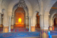 Interior of the Great Mosque in Sousse Royalty Free Stock Images
