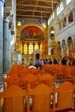 Interior Grecia de la iglesia del St Demetrios Foto de archivo