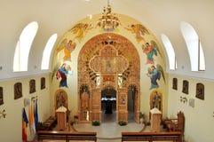 Interior of a Greek Catholic church in Romania Stock Photo