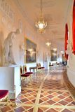 The interior of the Greek hall in Gatchina Palace Stock Images