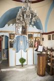 Interior Greek Orthodox Chapel in Mykonos Stock Photography