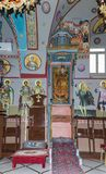 Interior of the Greek Orthodox Metropolite of Nazareth in the old city of Nazareth in Israel. Nazareth, Israel, December 23, 2017 : Interior of the Greek Stock Photos
