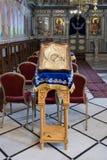 Interior of the Greek Orthodox Metropolite of Nazareth in the olInterior of the Greek Orthodox Metropolite of Nazareth in the old. Nazareth, Israel, December 23 Royalty Free Stock Photos