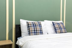 Interior of green bedroom Stock Photography