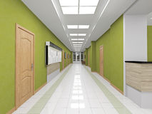 Interior green corridor Royalty Free Stock Images