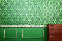 Interior of green room with rococo elements Royalty Free Stock Photos