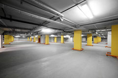 Interior of grey luxury parking Stock Photography