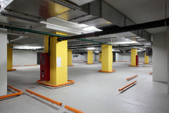 Interior of grey luxury parking Stock Images