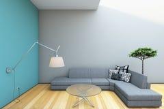 Interior gris moderno Fotografía de archivo