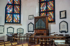 Interior of the Groot Kerk. This Dutch Reformed Church, is one of the oldest functioning Protestant churches in Sri Lanka, completed in 1775 Stock Photos