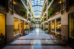 The interior of the Grove Arcade, in Asheville, North Carolina. royalty free stock images
