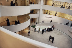 Interior of Guggenheim Museum Stock Image