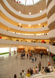 Interior of Guggenheim Museum Royalty Free Stock Images