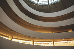 Interior of the Guggenheim Museum in New York. Stunning architecture in New York City Stock Photos