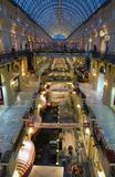 Interior of GUM - The Shopping Center in Red Square, Moscow, Russia stock image