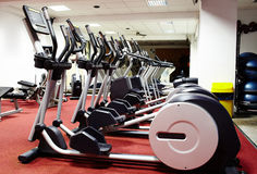 Interior of a gym Stock Images