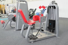 Interior of gym with equipment Royalty Free Stock Photo