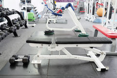 Interior of gym with equipment Royalty Free Stock Image