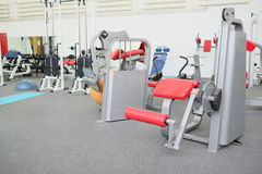 Interior of gym with equipment Stock Image