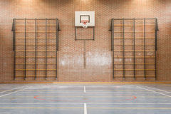 Interior of a gym at school Royalty Free Stock Images