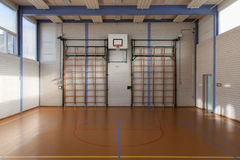 Interior of a gym at school Royalty Free Stock Photography