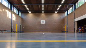 Interior of a gym at school Royalty Free Stock Photo
