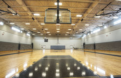 Interior of Gymnasium. At Public Middle School in Florida stock photo