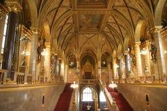 Interior húngaro do edifício do parlamento Fotos de Stock