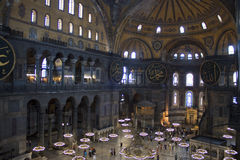 Interior of Hagia Sofia Royalty Free Stock Images