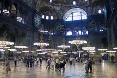 Interior of Hagia Sofia Stock Photo