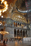 Interior of Hagia Sophia Stock Images