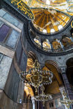 Interior Hagia Sophia, Aya Sofya museum in Istanbul Turkey Royalty Free Stock Photo