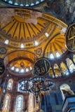 Interior Hagia Sophia, Aya Sofya museum in Istanbul Turkey Royalty Free Stock Images