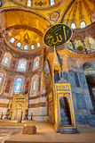 The interior of Hagia Sophia, Ayasofya, Istanbul, Turkey. Stock Photography