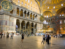 Interior of Hagia Sophia - Byzantine basilica Royalty Free Stock Images