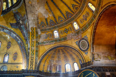 The interior of Hagia Sophia Dome with picture of Hexapterygon, Stock Images
