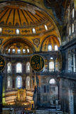 The interior of the Hagia Sophia with famouse Islamic elements, Stock Images