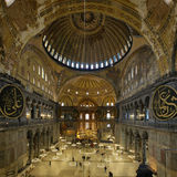 Interior of the Hagia Sophia in Istanbul Stock Image