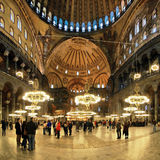 Interior of the Hagia Sophia in Istanbul Royalty Free Stock Images