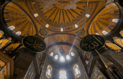 Interior of Hagia Sophia, Istanbul Royalty Free Stock Photos