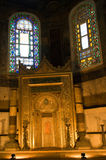 Interior of Hagia Sophia in Istanbul, Turkey. Royalty Free Stock Photography