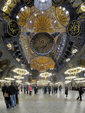 Interior of the Hagia Sophia in Istanbul Royalty Free Stock Image