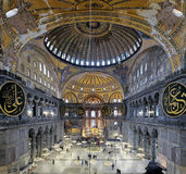 Interior of the Hagia Sophia in Istanbul Stock Photography