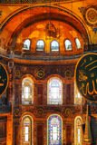 Interior of Hagia Sophia in Istanbul, Turkey Stock Photos