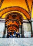 Interior of Hagia Sophia in Istanbul, Turkey Stock Photography