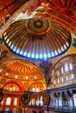 Interior of Hagia Sophia in Istanbul, Turkey Royalty Free Stock Photography